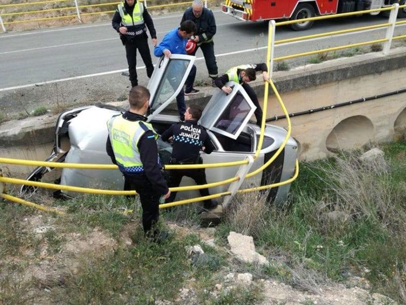 Accidente de tráfico en la carretera de Fuente Álamo