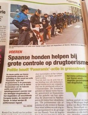 Agente Policía Local Jumilla en prensa belga