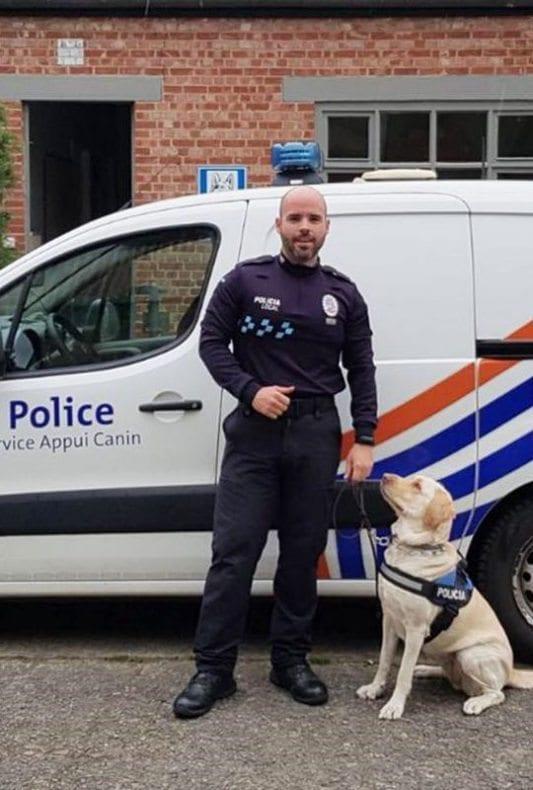 Agente de Policía Local de Jumilla y perro Unidad Canina