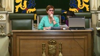 Alcaldesa y secretaria Ayuntamiento Jumilla