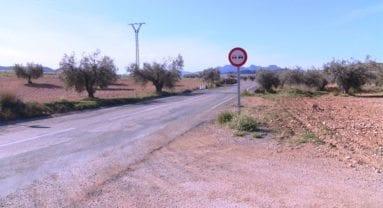 Carretera Jumilla a Fuente Álamo