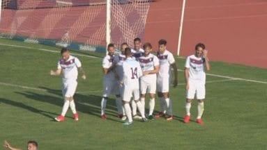 El FC Jumilla celebra el gol