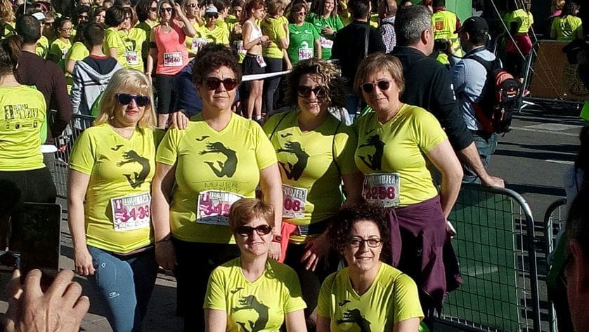 Las atletas del Vinos DOP Jumilla estuvieron en la III Carrera de la Mujer de Murcia