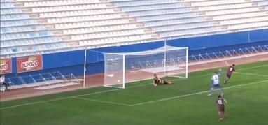 Primer gol del FC Jumilla al Lorca