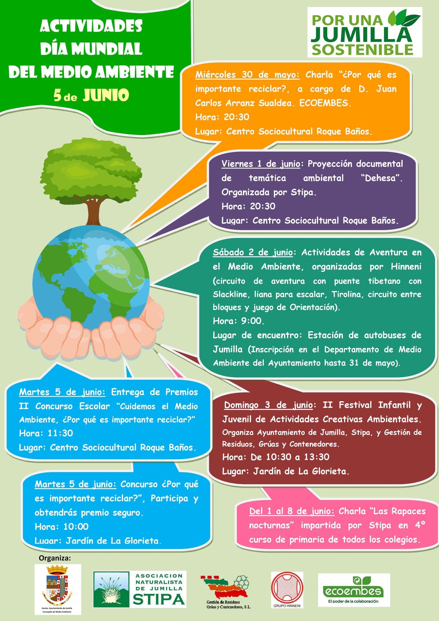 Circuito Jumilla : Jumilla celebrará el día del medio ambiente con siete actividades