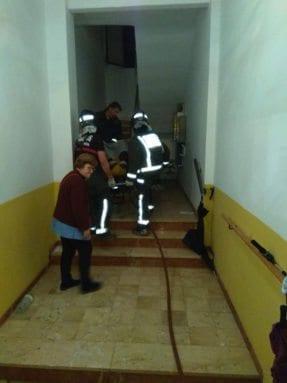 Asistencia sanitaria incendio Avda Asunción