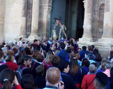 Cristo sale iglesia Santiago Jumilla