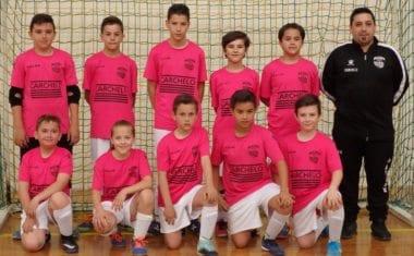 Fin de temporada para los alevines de la Escuela de Fútbol Sala Carchelo