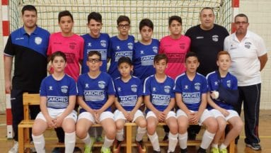 Plantilla equipo infantil de la Escuela de Fútbol Sala de Carchelo
