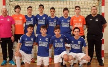 Reparto de puntos entre los cadetes de la Escuela de Fútbol Sala Carchelo y Los Garres