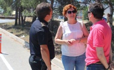 La Concejalía de Tráfico mejora la seguridad para vehículos y peatones en la Ronda de los Franceses