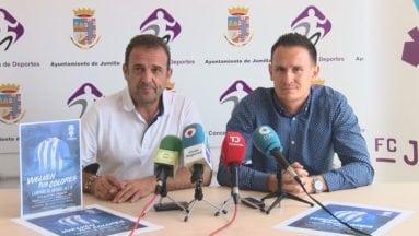 Benito Abellán y Pedro Asensio en la presentación de la captación de abonados