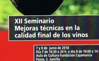 Jumilla acogerá el XII Seminario de los Vinos