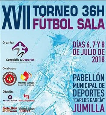 Cartel torneo 36 horas fútbol sala