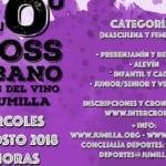 El Cross urbano Fiestas del Vino de Jumilla alcanzará su 40 edición