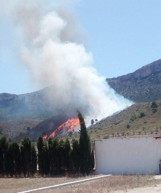 Incendio en la Sierra del Buey
