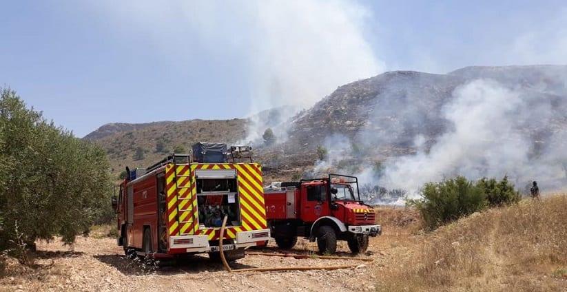 Controlado el incendio declarado en la Sierra del Buey