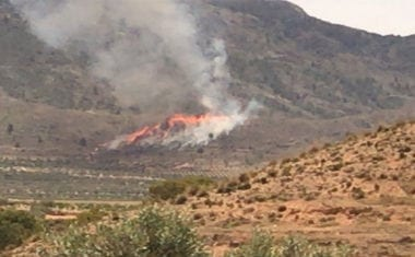 Investigan a una persona como posible responsable del incendio en el Cerro del Oro
