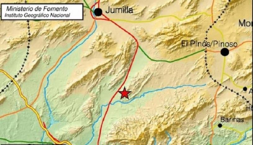 Un terremoto de 3 grados se dejó notar en Jumilla
