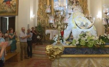 La Patrona de Jumilla ya se encuentra en la Ermita de San Agustín
