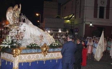 Todos los colectivos se volcaron con la Patrona en la Procesión de la Asunción