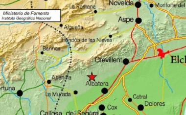El terremoto que se ha sentido en Jumilla ha tenido su epicentro en Albatera