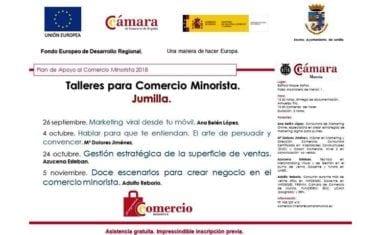 Jumilla acoge en las próximas semanas cuatro talleres para comercio minorista