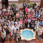 Recibidos en el Ayuntamiento medio centenar de alumnos franceses de intercambio
