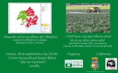 'Jornada sobre los cultivos intensivos en el Altiplano' en el Roque Baños