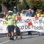 Menos de un centenar de pensionistas acuden a la manifestación en Defensa del Sistema Público de Pensiones