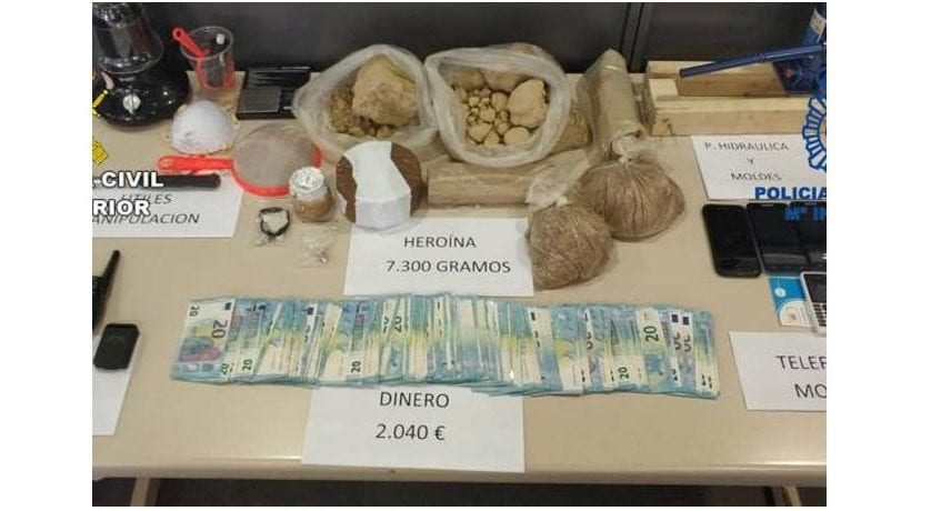 Desarticulada una banda de narcos asentada en Jumilla que distribuía heroína