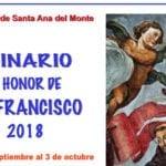 El Monasterio de Santa Ana celebrará el Quinario en honor a San Francisco de Asís