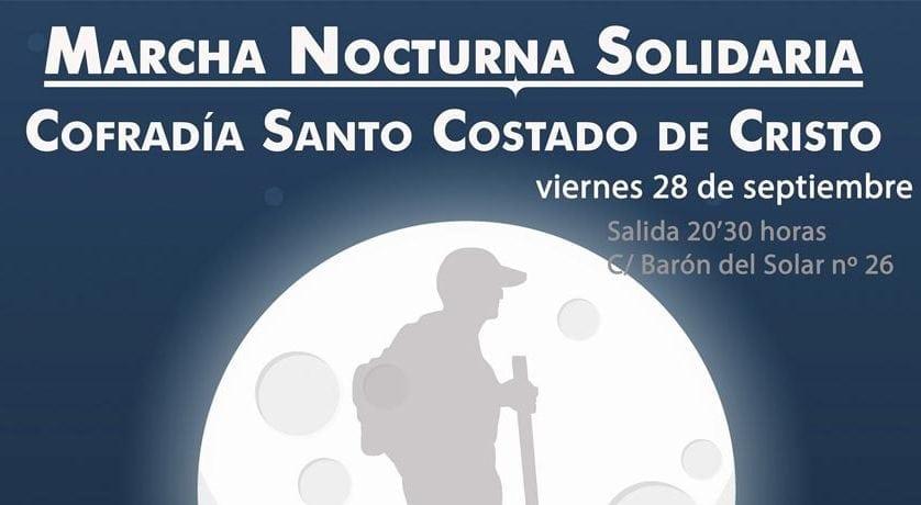La Cofradía del Santo Costado organiza la III Marcha Nocturna Solidaria
