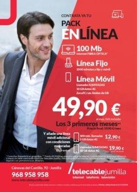 Nuevo Pack EnLínea Telecable Jumilla