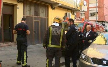 Incendio en la calle Albano Martínez