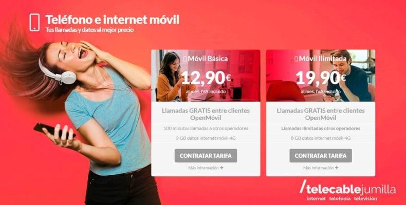 Telefonía móvil con Telecable Jumilla