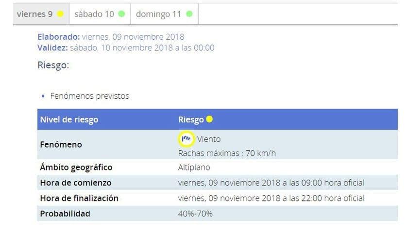 Meteorología mantiene el aviso amarillo por viento de hasta 70 km/h hoy en el Altiplano