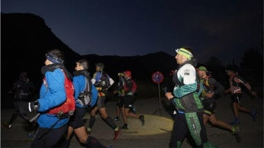 Atleta local en la Yeti Trail