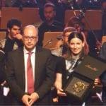 El actor Carlos Santos condujo la entrega del II Premio Internacional de Composición de Bandas Sonoras Bodegas Juan Gil