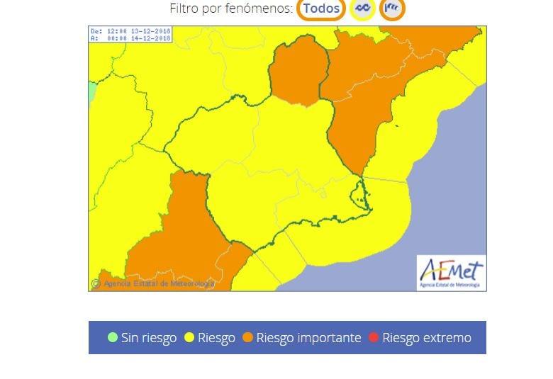 El Altiplano se encuentra en Alerta Naranja