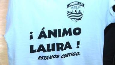 Camiseta de apoyo a una compañera del equipo benjamín
