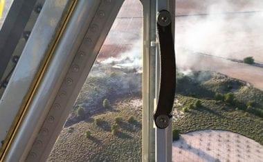Incendio en la Cañada del Águila en el término de Jumilla