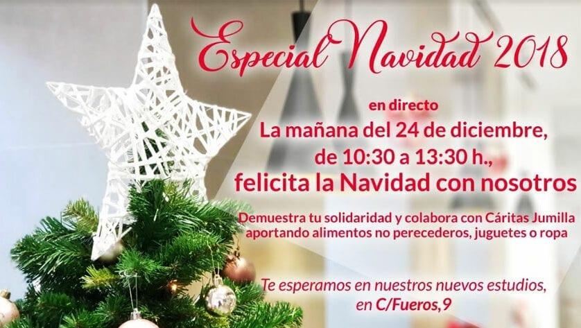 Todo preparado para el programa Especial Navidad 2018 de Telejumilla
