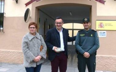 El delegado del Gobierno visitó el Cuartel de la Guardia Civil