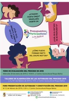 Cartel Presupuestos Participativos Jumilla