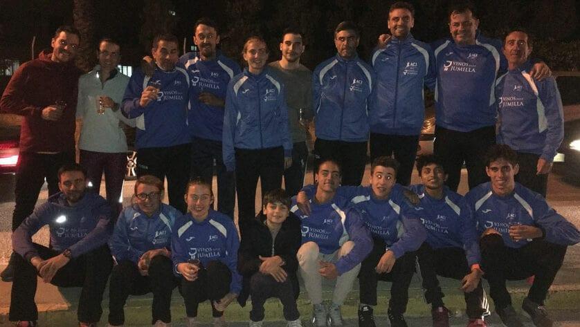 Corriendo terminan el año los atletas del Athletic Club Vinos DOP Jumilla