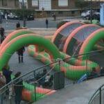 La Plaza del Mercado se llenó de niños con el Parque Infantil Drilo Park
