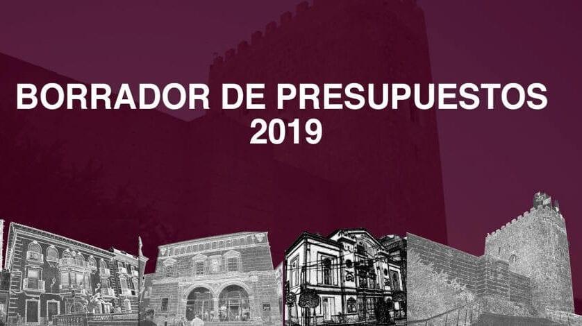 El borrador del Presupuesto Municipal 2019 aumenta poco más de 300.000€ con respecto al del año pasado