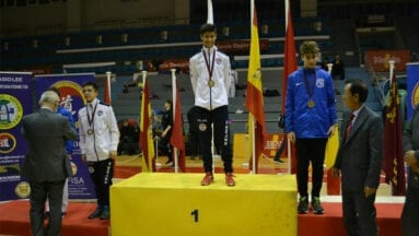 Daniel Conesa y Alberto Tomás en el podio