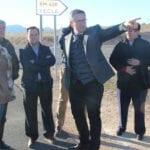 El Delegado del Gobierno promete trabajar porque el Gobierno de España financie la obra de enlace entre la A33 y la carretera del Carche